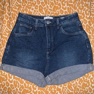 High rise stretch cotton on shorts size 6